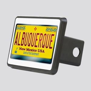 newmexico_licenseplate_alb Rectangular Hitch Cover
