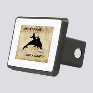 dolphin cowboy Rectangular Hitch Cover