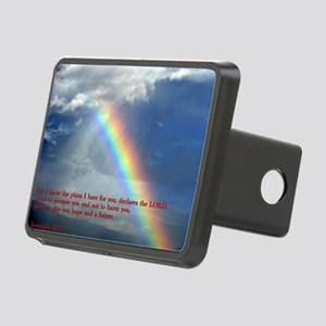 Jeremiah 29-11 Rainbow Rectangular Hitch Cover