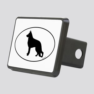 German Shepherd Silhouette Rectangular Hitch Cover