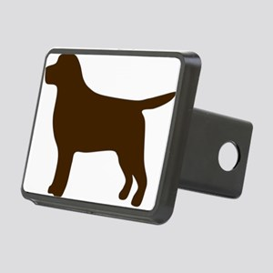 ChocolateLabSilhouette Rectangular Hitch Cover