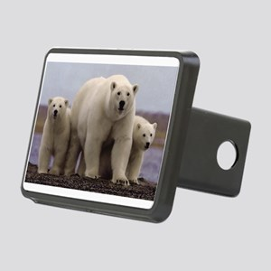 polar Bear Family Rectangular Hitch Cover