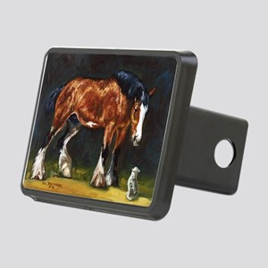 Clydesdale Horse and Cat Rectangular Hitch Cover