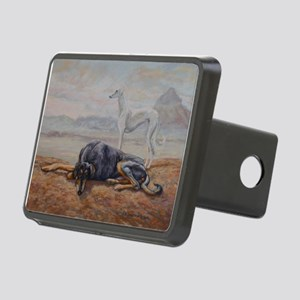 Saluki in the Desert Rectangular Hitch Cover