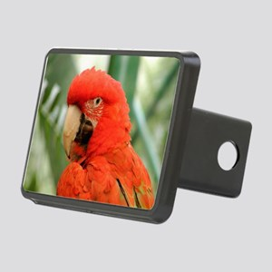 Green Winged Macaw Rectangular Hitch Cover