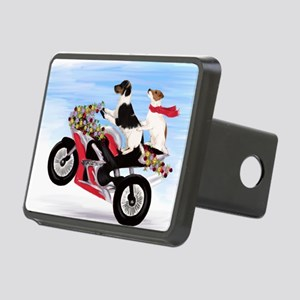 Jack Russell Terriers on a Rectangular Hitch Cover