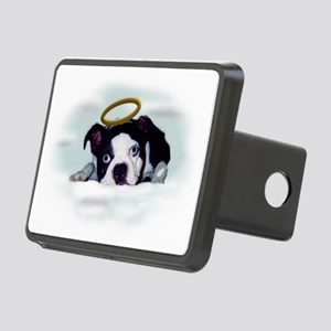 BOSTON TERRIER ANGEL LOOK Rectangular Hitch Cover