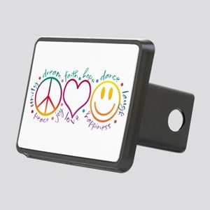 Peace Love Laugh Rectangular Hitch Cover