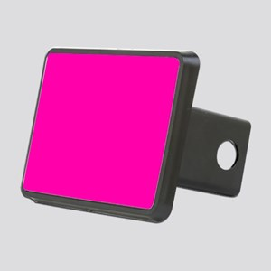 Neon Pink Solid Color Rectangular Hitch Cover