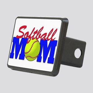 softball mom(white) Rectangular Hitch Cover