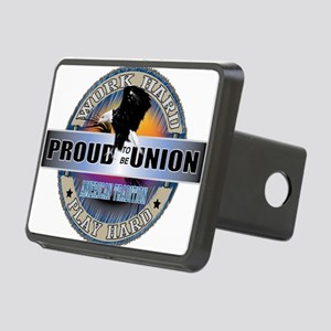 PROUD TO BE UNION Rectangular Hitch Cover