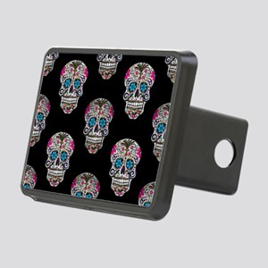 sequin Sugar Skulls Rectangular Hitch Cover