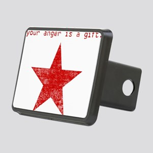 YOUR ANGER IS A GIFT Rectangular Hitch Cover