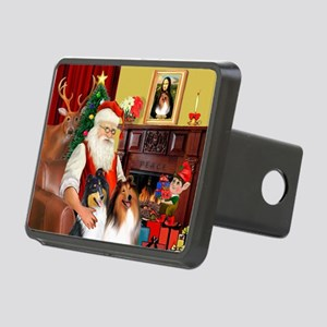 Santa's Collie pair Rectangular Hitch Cover