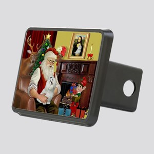 Santa's Maltese Rectangular Hitch Cover