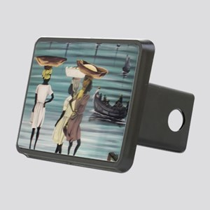 Girls Selling by the Shore Rectangular Hitch Cover