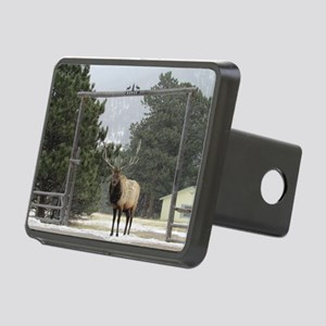 Elk in Estes Park Colorado Rectangular Hitch Cover