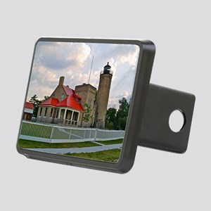 Mackinaw City Light house Rectangular Hitch Coverl