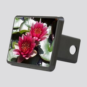 Red Lotus Flower Rectangular Hitch Cover