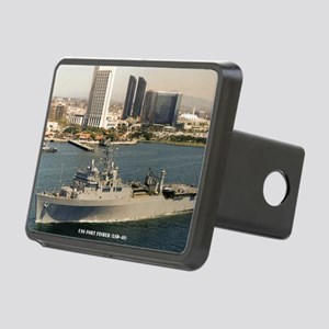 uss fort fisher framed pan Rectangular Hitch Cover