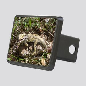 Spiny the Lizard Smiling Rectangular Hitch Cover