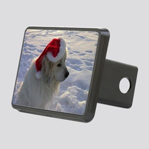 Great Pyrenees with Santa  Rectangular Hitch Cover