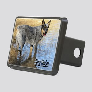 Blue Heeler 2 Rectangular Hitch Cover