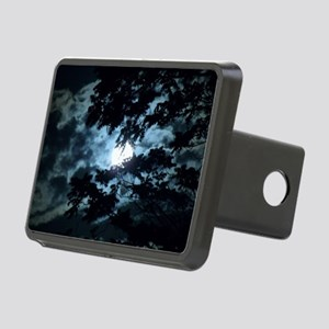 Moon through the trees. Rectangular Hitch Cover