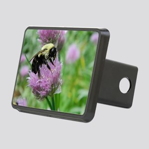bumblebee sleeping chive Rectangular Hitch Cover