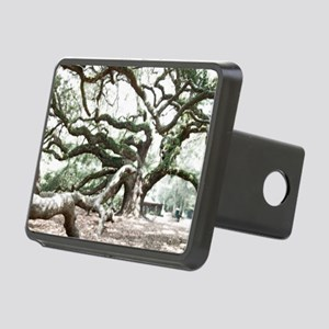 Angel Oak  Treee with phot Rectangular Hitch Cover