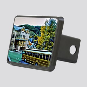 Park City Trolley Scene Rectangular Hitch Cover