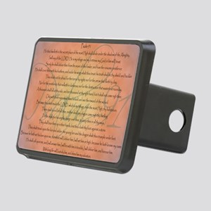 psalm 91 Rectangular Hitch Cover