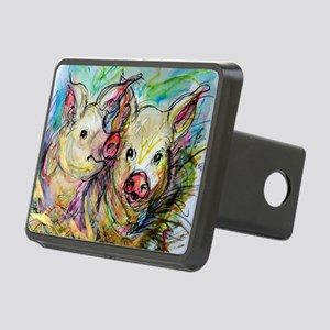 piglets, pig pair Rectangular Hitch Cover