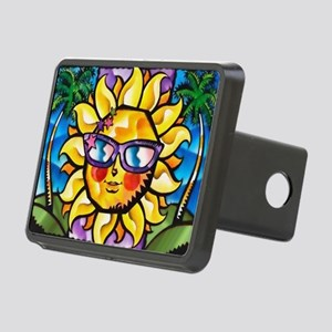 Bright Colorful Tropical Rectangular Hitch Cover