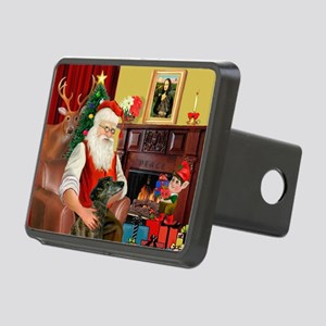 Santa's Greyhound (brd) Rectangular Hitch Cover
