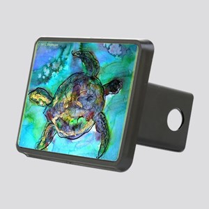 Sea Turtle, Wildlife art! Rectangular Hitch Cover