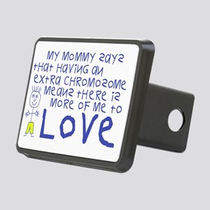 Awareness tee More 2 Love  Rectangular Hitch Cover