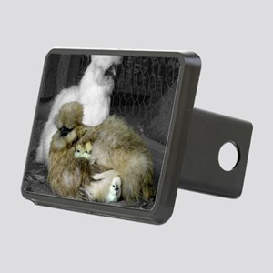 Silkie Chickens with Chick Rectangular Hitch Cover