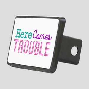 Here Comes Trouble Girls Rectangular Hitch Cover