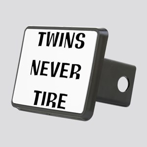 twins are tireless Rectangular Hitch Cover