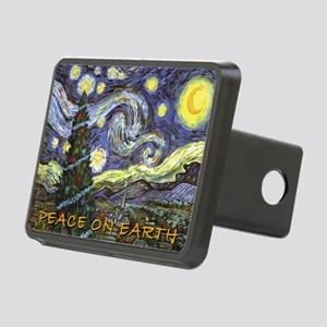 Starry Night/ Peace on Ear Rectangular Hitch Cover