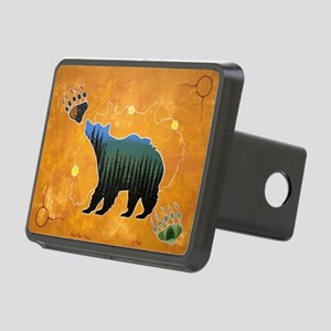 Morning Bear Rectangular Hitch Cover