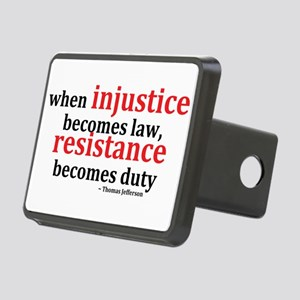Injustice Resistance Rectangular Hitch Cover