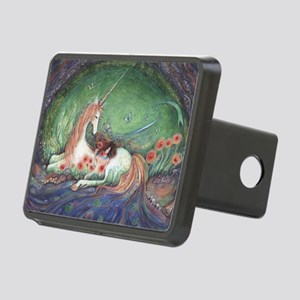 Unicorn and child fantasy Rectangular Hitch Cover