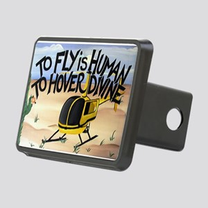 Helicopter in Desert Rectangular Hitch Cover