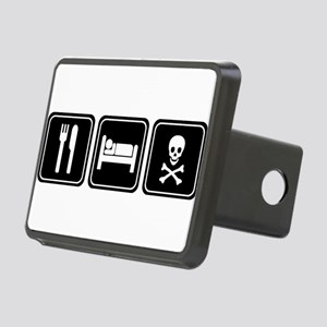 EAT SLEEP PIRATE Rectangular Hitch Cover