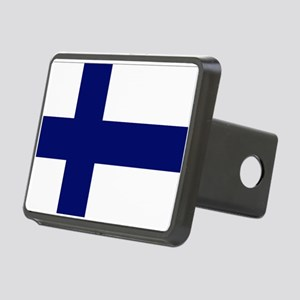Finland flag Rectangular Hitch Cover