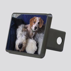 thanks_dog_card Rectangular Hitch Cover