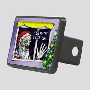 Zombie Santa is coming Rectangular Hitch Cover