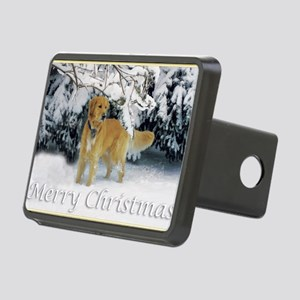 Golden Retriever Merry Chr Rectangular Hitch Cover